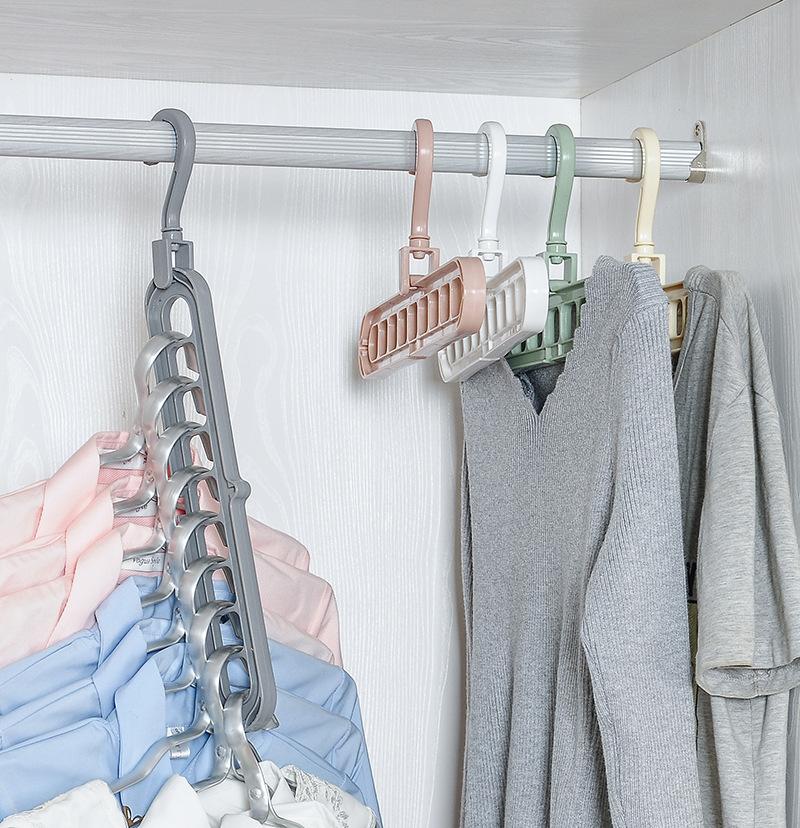 多孔旋转多功能塑料室内衣架挂架衣柜挂衣架挂钩阳台窗台收纳神器