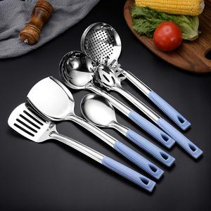 不锈钢锅铲套装全套厨房炒菜铲子汤勺漏勺三件套家用防烫烹饪厨具