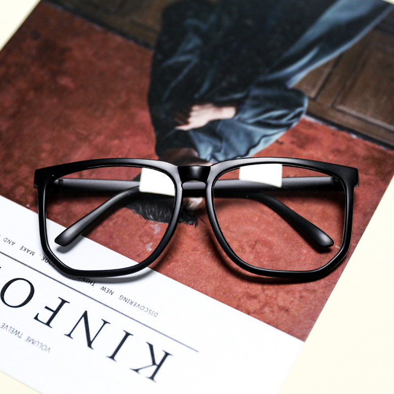 大框眼镜女大脸超大圆脸网红大框抖音眼镜显瘦眼睛框镜架男无镜片