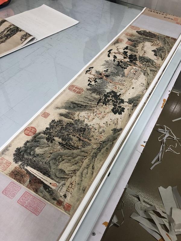 祝枝山字畫學習臨摹裝飾合璧卷文徵明題跋祝允明書畫蘭亭序