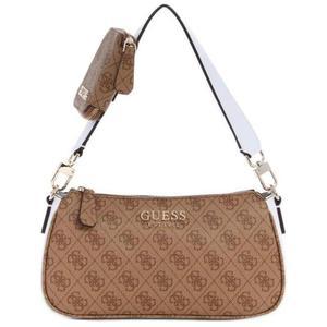 GUESS/盖尔斯女包单肩包logo棕色时尚PU小号正品10555265