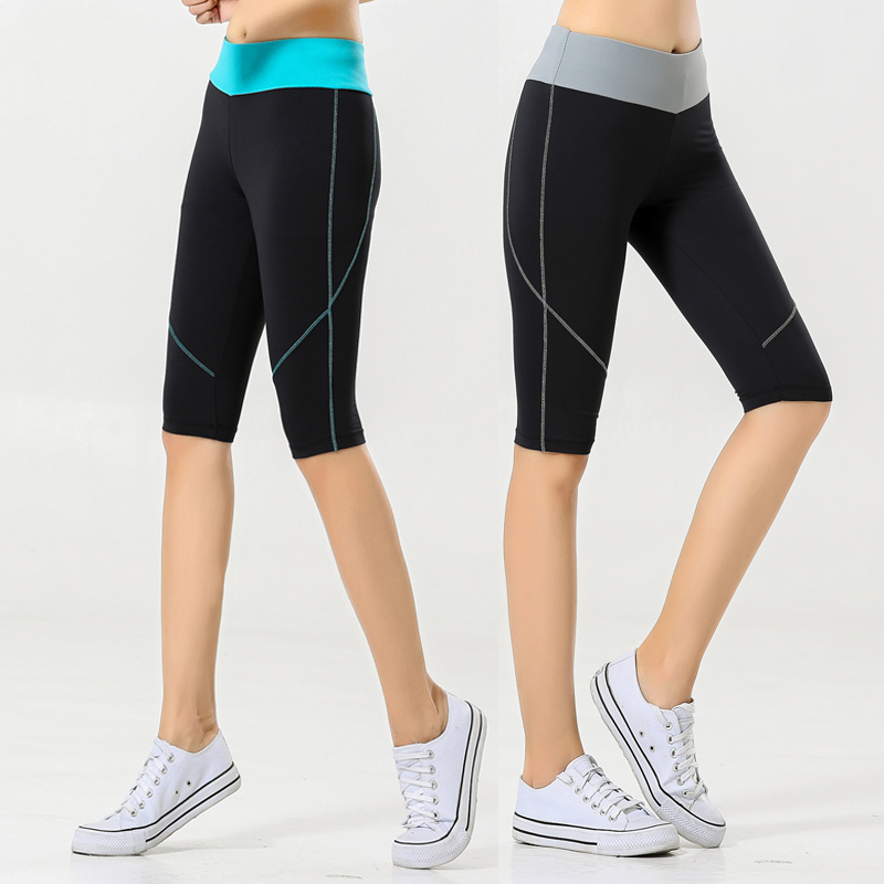Sports shorts womens slim elastic fast dry sweat absorption breathable training tight yoga fitness running 5-point pants