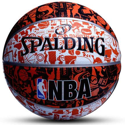 正品斯伯丁篮球7号lanqiu学生室内室外成人NBA水泥地耐磨比赛礼物