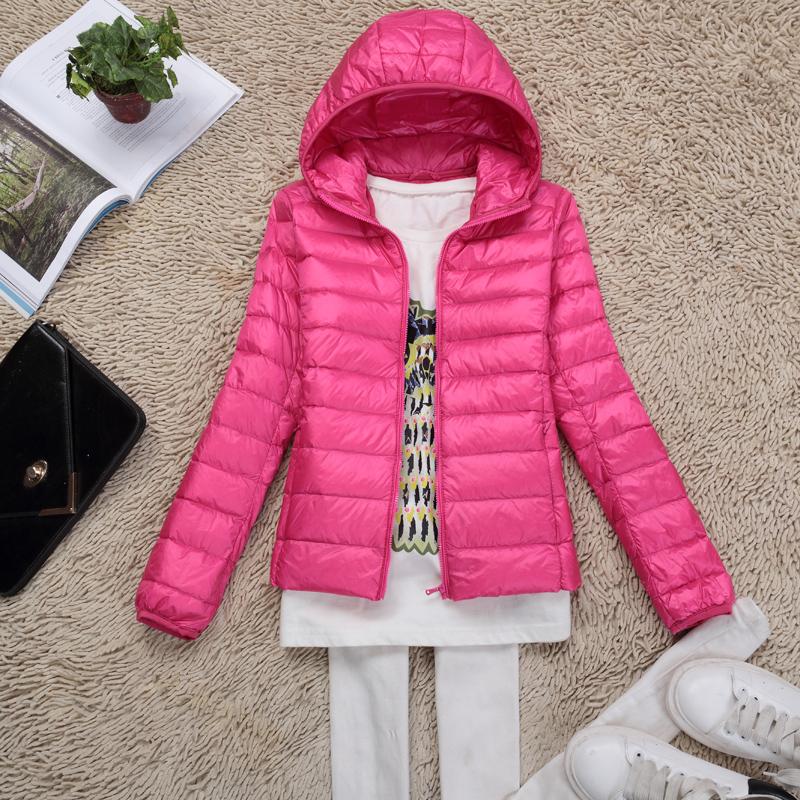 Аутентичные женщин короткие с тонко сезон вниз куртка легкий тонкий новой зимней одежды плюс размер легкие пальто YRF