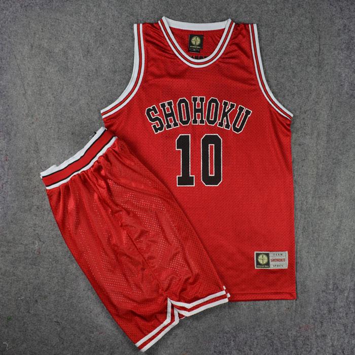 SD лить корзина мастер джерси команда одежда река сянцзян северная команда 10 вишня двересный цветок дорога баскетбол одежда жилет баскетбол костюм красный