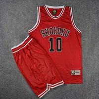 SD灌篮高手球衣队服湘北队10号樱木花道篮球衣背心篮球服套装红色
