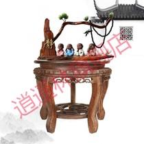 垫高花盆石头木托盘花瓶佛像工艺品摆件鱼缸底座缸架底柜实木承重