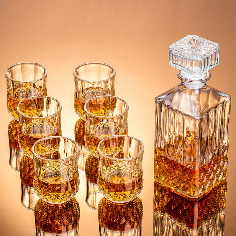 水晶玻璃洋酒杯套装 家用洋酒酒具威士忌白兰地酒杯 喝洋酒的杯子 Изображение 1