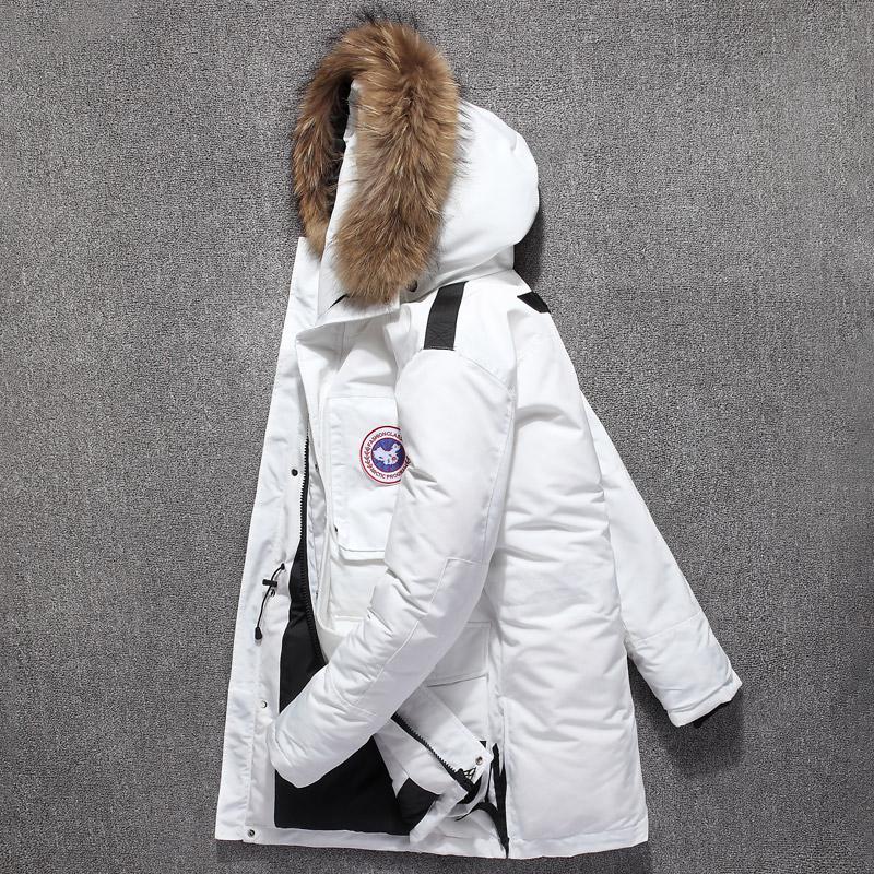 加拿大风羽绒服2018冬季新款男女中长款户外工装情侣加厚潮鹅外套