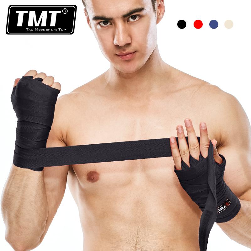 TMT бокс бандаж связали руки пояс перегрузки саньшоу (свободный спарринг) путаница ремень мешок с песком рукавицы тхэквондо тайский кулак бандаж движение 5 метр