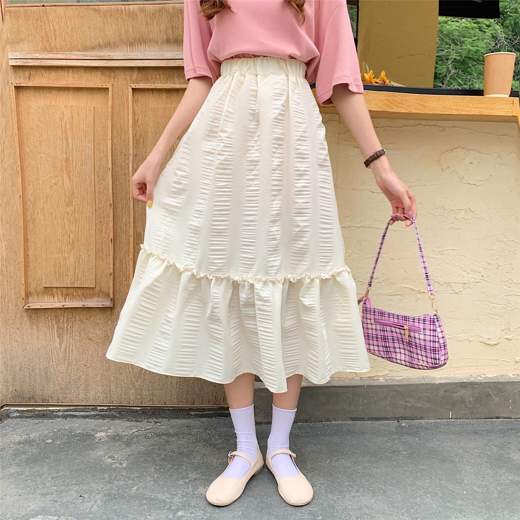 988#實拍實價 2020夏季新款高腰半身裙女學生韓版寬松