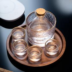 日式玻璃创意白酒酒具套装家用小号酒杯子分酒器酒壶清酒杯果酒梅
