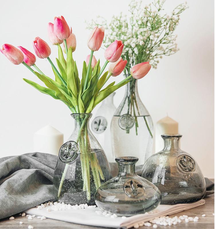 S свежий творческий личность ваза нордический простой ретро пузырь стекло прозрачный украшение гостиная обеденный стол цветочная композиция