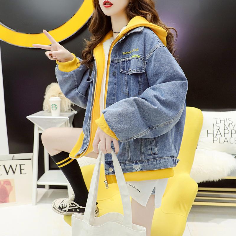 加绒加厚牛仔外套韩版宽松2021开衫质量如何