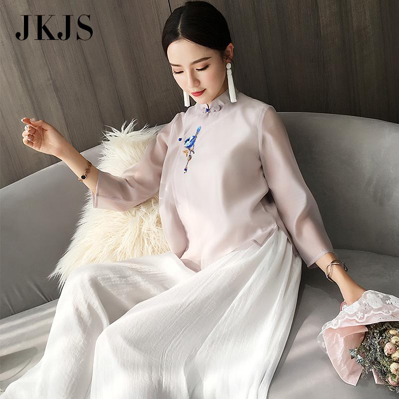 汉服夏装女改良旗袍茶服夏民国风女装复古中式唐装中国风盘扣上衣