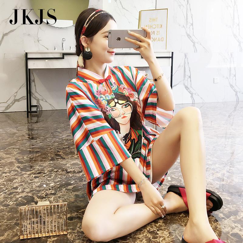 年轻旗袍秋季2018新款女中国风女装少女低领改良版短款时尚连衣裙