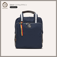 GLUX Business Handbag Male Vertical Leather Nylon Computer Bag 900302 Korean Multifunctional Shoulder Backpack