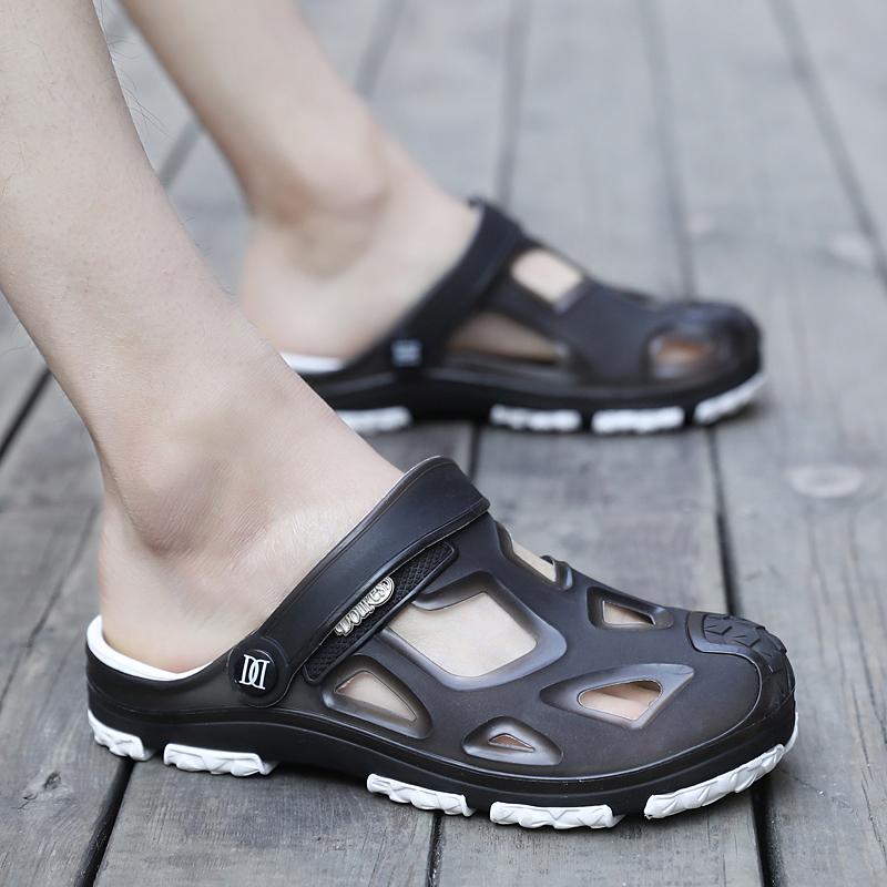 洞洞鞋男夏季新款包头两用凉拖鞋男士休闲果冻凉鞋防滑沙滩鞋拖鞋