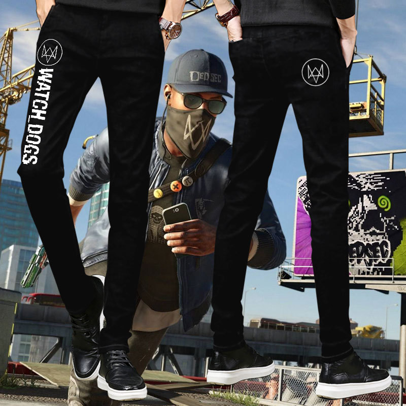 Watchdogs 2 Marcus Harvey same casual pants Cosplay game peripheral clothes