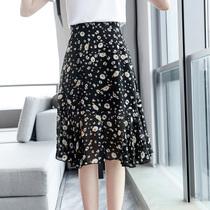 【直播上新】新款胖MM大码女装雏菊印花百搭时尚半身裙藏肉裙子