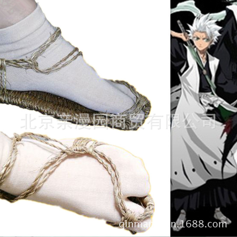Japanese anime and animation God of death kurazaki Ichiro rotten wood Luqiya cos shoes straw sandals Cosplay accessories props in stock