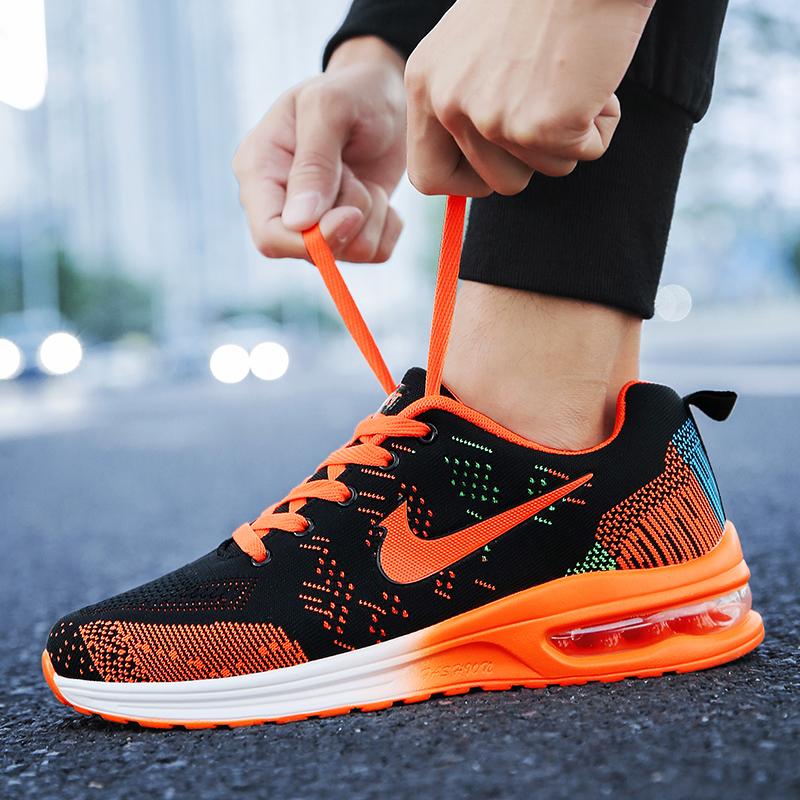 网面透气运动鞋男夏季网鞋跑步鞋增高气垫鞋青少年学生休闲潮鞋子