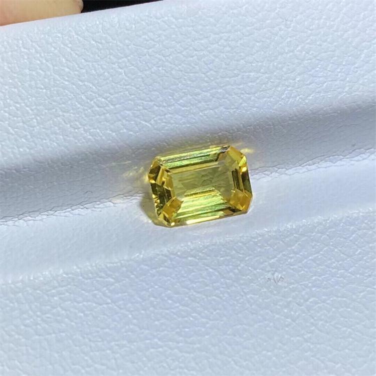 Yellow sapphire bare stone supports customization