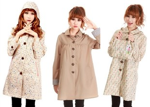 Light air light raincoat thin long section of large adult student student teen beige raincoat raincoat