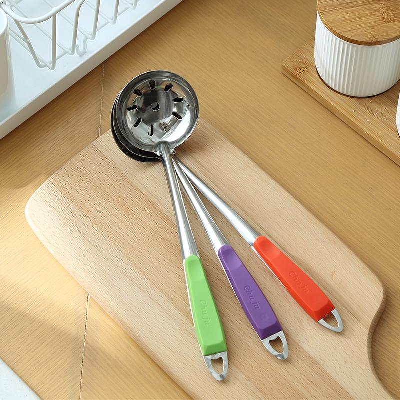 加厚不锈钢漏勺汤勺厨具长柄麻辣烫火锅捞勺厨房火锅餐具家用勺子
