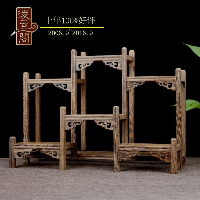 茶壶茶具架子小型博古架实木中式小摆件紫砂壶展示架鸡翅木多宝阁