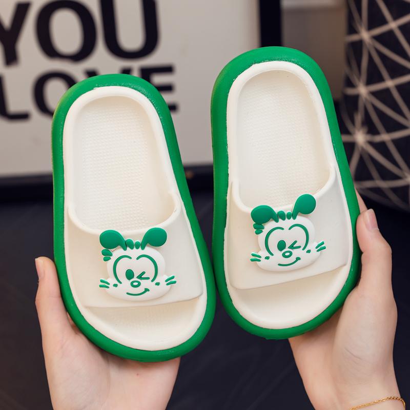 巴布豆儿童拖鞋夏宝宝防滑男童女童室内家居浴室2岁3小孩穿凉拖鞋