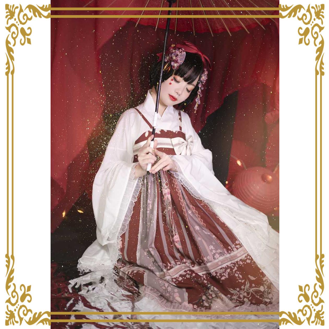 [floating flower screen] original Lolita Japanese style and wind jsk dress in stock
