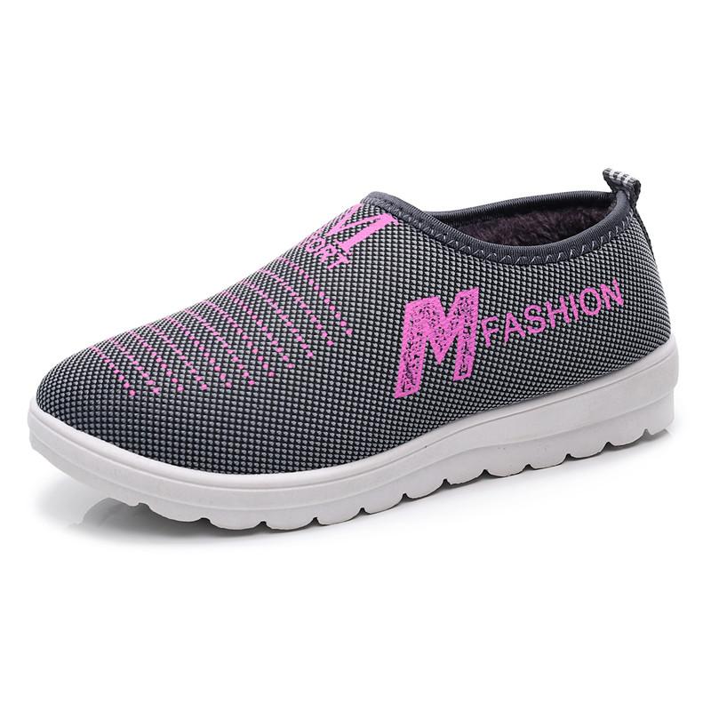 冬季新款棉鞋女加绒加厚软底防滑休闲女棉鞋中老年冬季保暖健步鞋