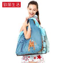 Shopping bags, travel bags, environmental protection bags, handbags, folded one-shoulder shopping bags, large capacity waterproof portable receptacle bags