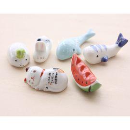 陶瓷笔架 小鲸鱼/西瓜/西红柿/熊猫/豌豆/笔架/笔搁 绘画小工具图片