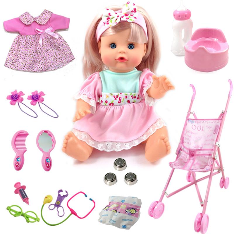 Бесплатная доставка умный моделирование ребенок иностранных кукла сказать слова может пейте много воды может моча моча домой политика обучения в раннем возрасте отцовство ребенок игрушка