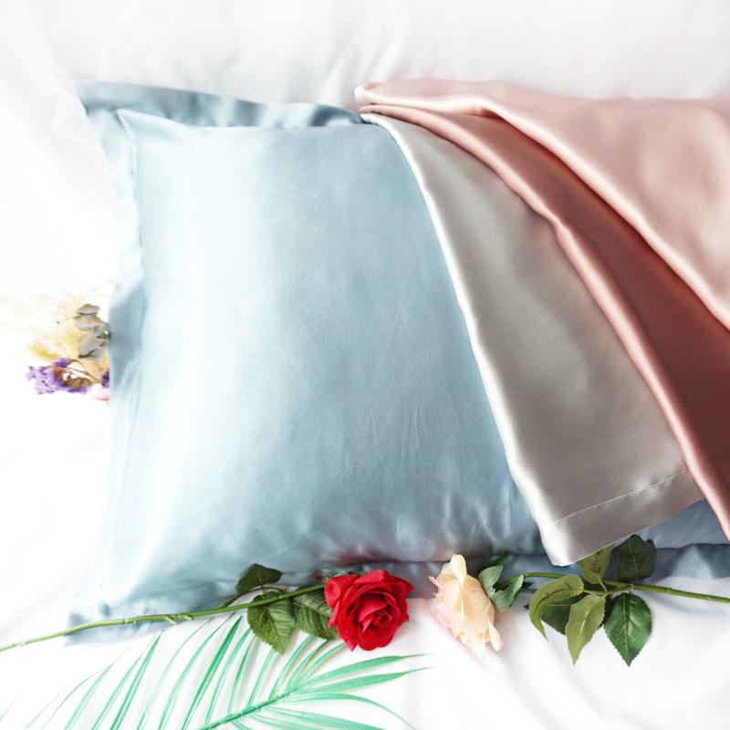绮窗兰衾香~真丝枕套100%桑蚕丝19姆米厚 优雅丝滑美容养肤助睡眠