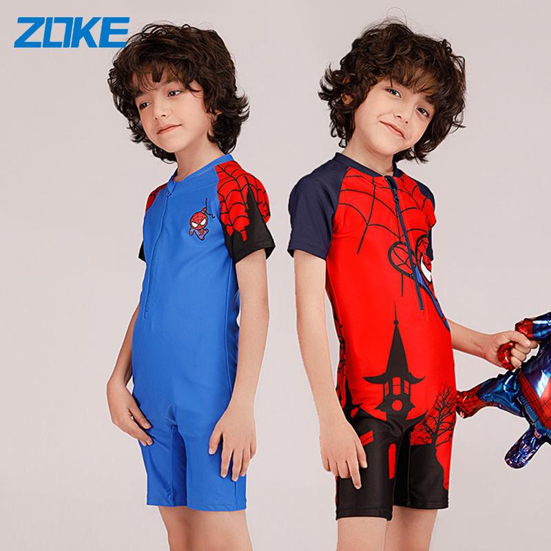 zoke儿童男孩连体可爱蜘蛛侠泳衣券后108.00元