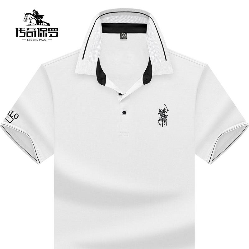 Legend Paul mens 2021 summer new middle-aged business Paul polo shirt mens Short Sleeve T-Shirt
