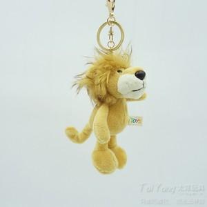 卡通獅子毛絨鑰匙扣掛件公仔節慶禮品生日禮物汽車背包掛飾男包郵