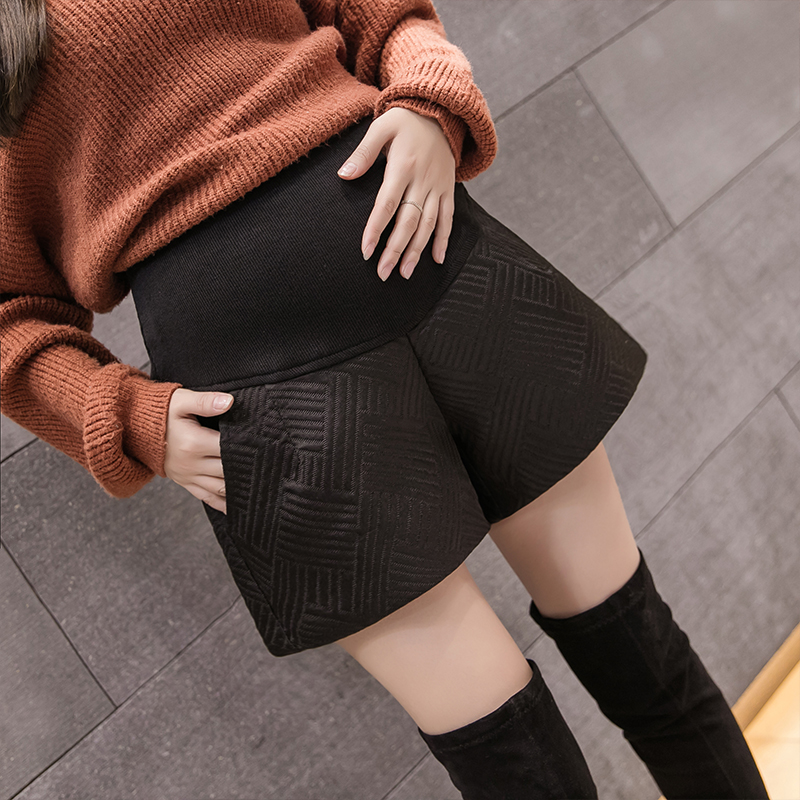 Autumn Maternity Shorts autumn winter wear 2020 fashion A-line wide leg belly support pants maternity boots