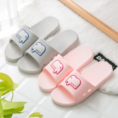 简屋 浴室拖鞋女夏情侣家居家用室内厚底防滑洗澡塑料软底凉拖鞋