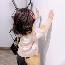 小童上衣洋气婴儿毛衣 外套女宝宝针织衫 童装 女童毛衣2019秋冬开衫