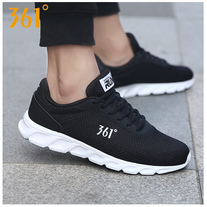 361 sports shoes men's shoes winter waterproof leather 361 degrees official autumn and winter mesh casual shoes men's running shoes