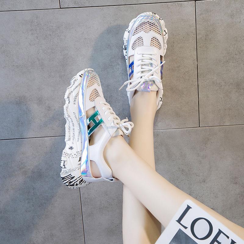 凉鞋女仙女风韩版ins潮2020春夏新款百搭休闲包头网红老爹运动鞋