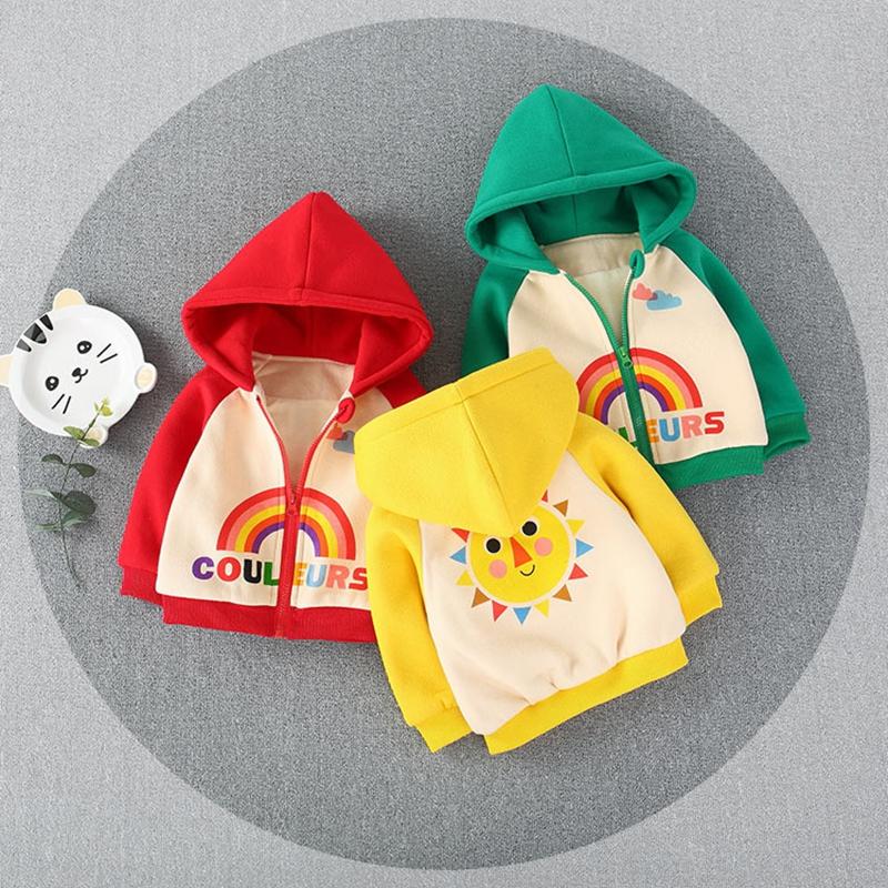 宝宝秋装外套加绒2纯棉婴儿秋冬款外出衣服女加厚0-1-3岁男童棉衣