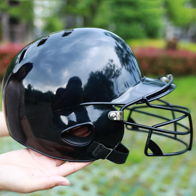 Специальность бейсбол шлем удар шлем да уха бейсбол шлем носить маска защищать крышка средства защиты головы защищать лицо палка база мяч