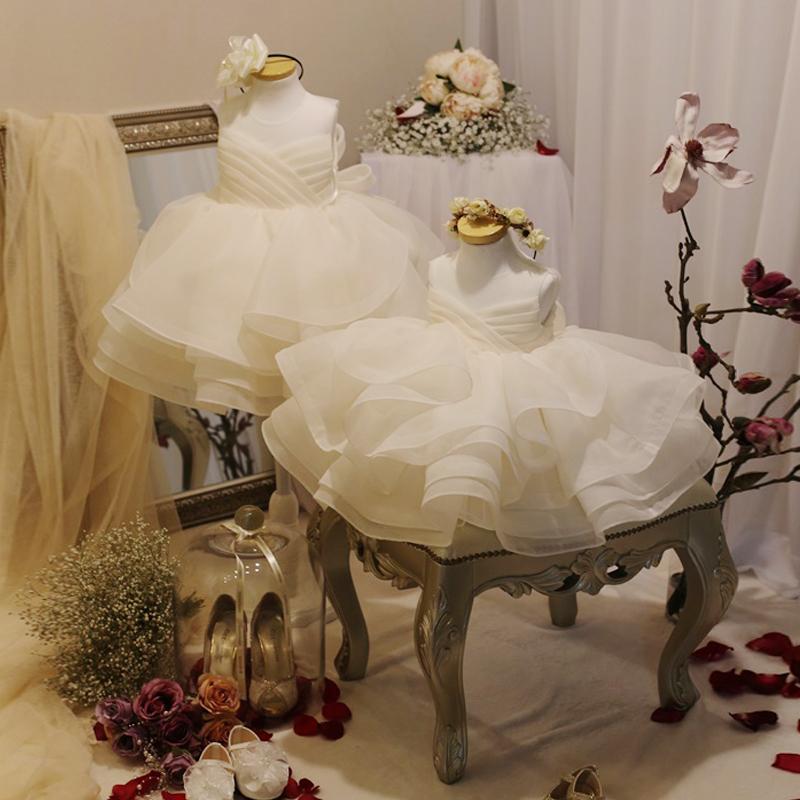 公主裙女童蓬蓬裙儿童婚纱花童礼服