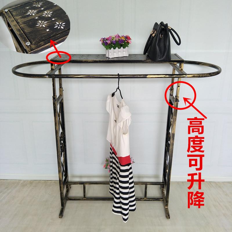 铁艺服装店椭圆形双杠落地女装货架11月03日最新优惠