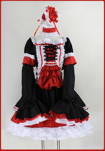 Love weaving Square New Japanese kimono long sleeve lolita maid outfit and wind split sleeve princess dress costumes